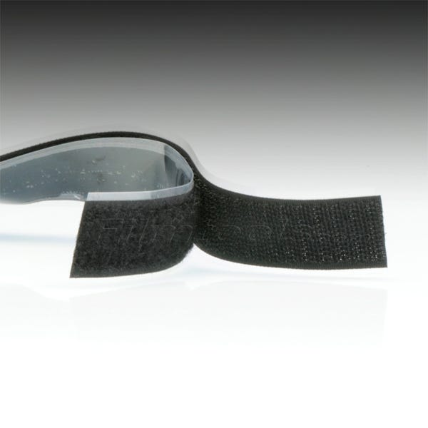 "1"" Black Hook and Loop Adhesive Backed Material"