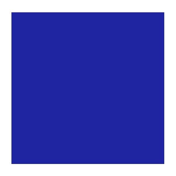 "Rosco Roscolux 80 20 x 24"" Roll - Primary Blue"