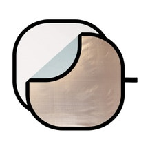 "Westcott Illuminator 30"" Sunlight/Silver Collapsible Reflector 4-in-1 Kit w/ White Diffuser"