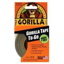 """Gorilla 1"""" Duct Tape - Black"""