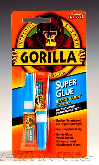 Gorilla Super Glue. Two 3g Tubes 7800102