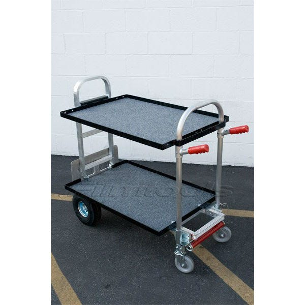 "Filmtools Junior Competitor Convertible Cart with two 24"" Shelves"