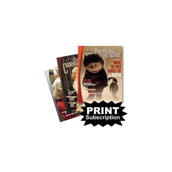 American Cinematographer Magazine (ASC) Subscription - PRINT EDITION [USA Only]