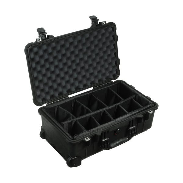 Pelican 1504 Waterproof 1500 Case with Padded Black Dividers - Black