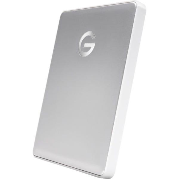 G-Technology G-DRIVE mobile USB-C Portable 1TB Hard Drive - Silver