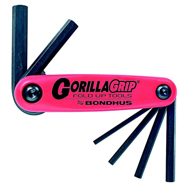 Bondhus GorillaGrip 7 piece Metric Hex set (1.5-6mm)