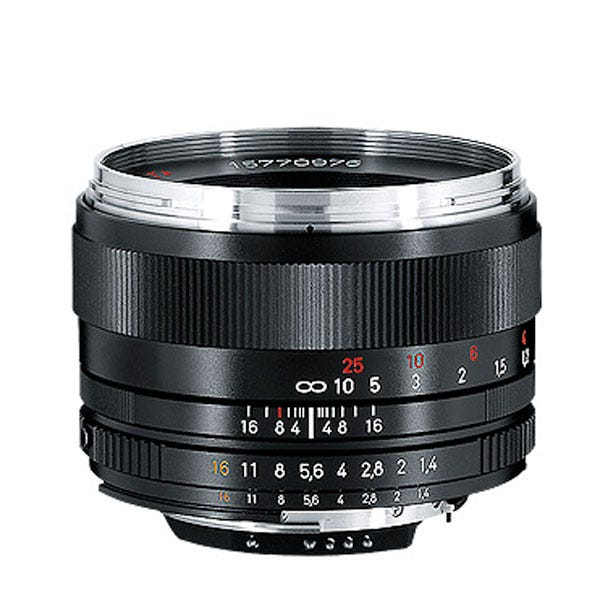 Zeiss Planar T* 50mm F/1 4 ZF 2 Lens for Nikon F-Mount Cameras