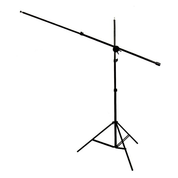 RPS Studio 7' Black Light Weight Boom Stand with Boom Arm