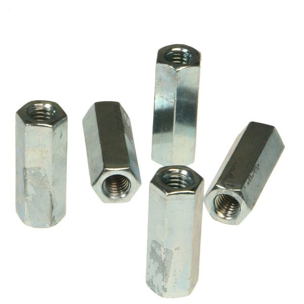 """3/8-16""""x1-3/4"""" Plated Coupler"""