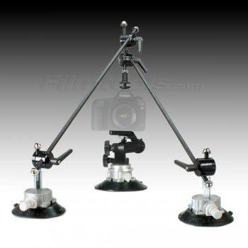 "Filmtools Gripper 3025 6"" Suction Cup Camera Mount  Plus Triangulation Kit BUNDLE"