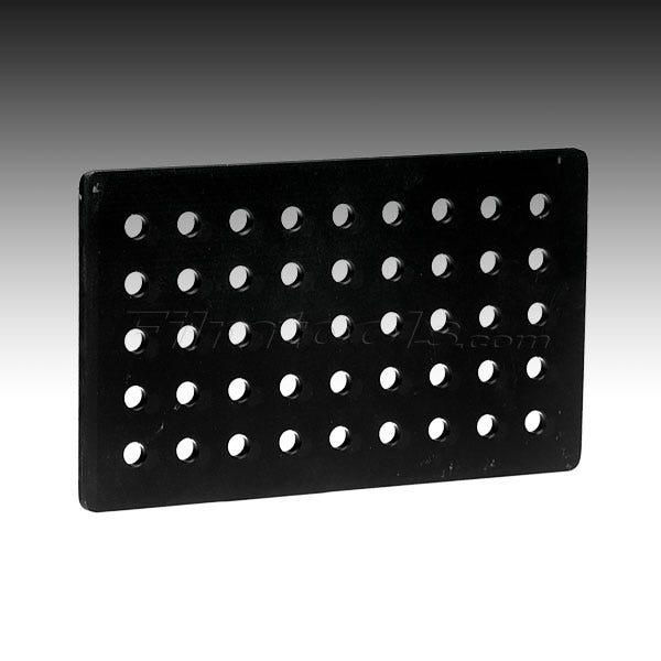 "Modern 6 x 10 x 1/4"" Cheese Plate - Black"
