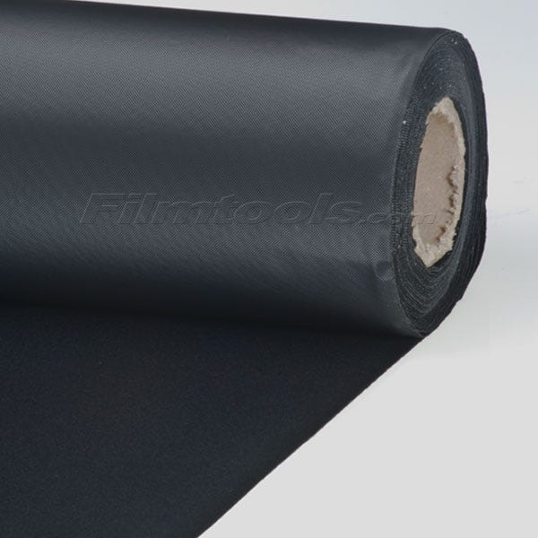"Superior Specialties 58"" x 24' Vinyl Backed Velour - Black"
