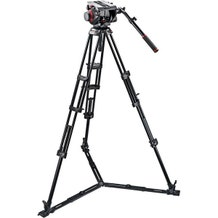 Manfrotto 509HD Video Head with 545GB Tripod Legs, Ground Spreader & Padded Bag