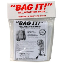 "BAG IT! 70 x 60"" 6-Mil Visqueen Bags/Tarps/Rain Covers - Small, Clear"