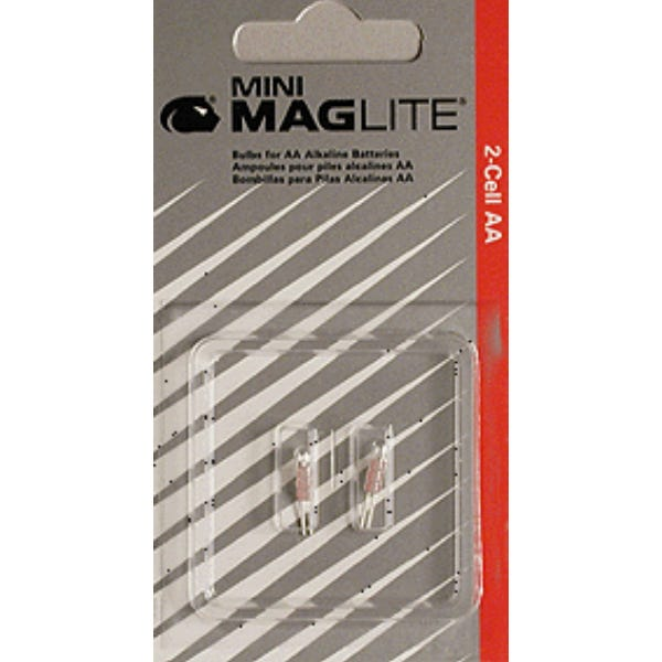 Replacement Bulbs (LM2A001) for AA Mini Maglite® (2 per card)