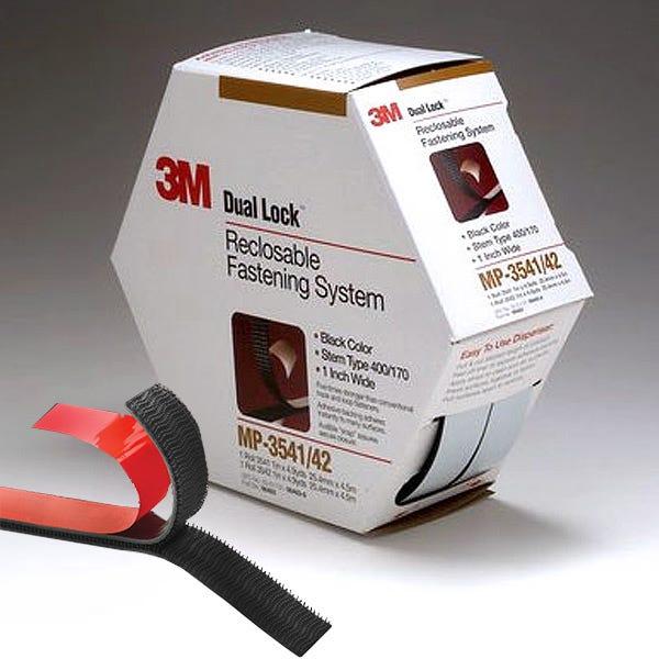 "3M Adhesive Backed Dual Lock Fastener (Stronger Than Hook & Loop) - 1"" x 5 yd Roll"