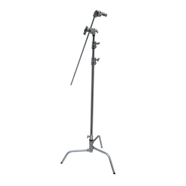 """Kupo 40"""" Master Chrome C-Stand with Turtle Base, Grip Head & Arm"""
