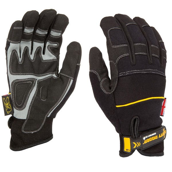 Dirty Rigger Black Comfort Fit Gloves (Various Sizes)