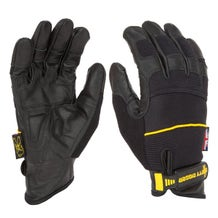 Dirty Rigger Black Leather Grip Gloves - X-Large