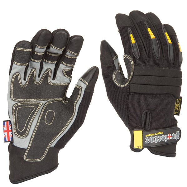 Dirty Rigger Black Protector Gloves - Medium