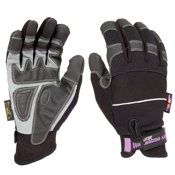 Dirty Rigger Black Slim-Fit Gloves - Medium