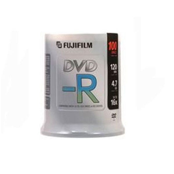 Fujifilm Silver Hub Inkjet Printable 4.7GB 16X DVD-R - 100 Pk
