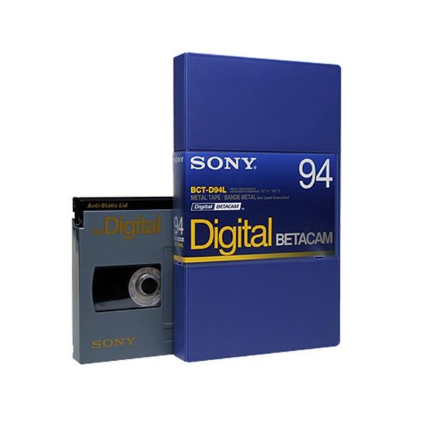 Sony 94min Digital Betacam Video Cassette in Album Case, Large