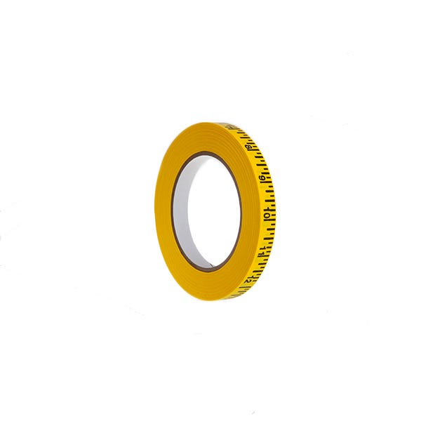 """Pro-Gaff 1/2"""" Imperial Measurement Paper Tape - Yellow"""
