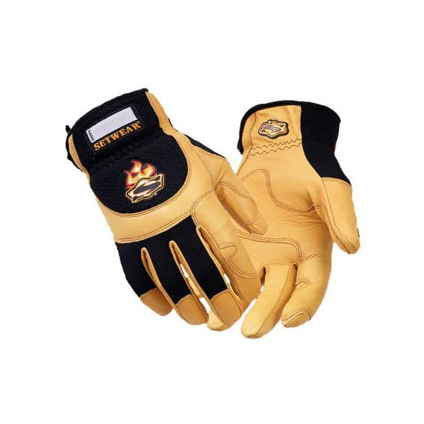 Setwear Pro Tan Leather Gloves - Large
