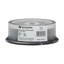 Verbatim 4X White Inkjet Hub Printable 25GB 4X Blu-Ray Cake Box - 25pc