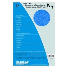 "Headline Sign Stick-On 1"" Vinyl Letters & Numbers - Blue"