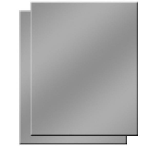 """Delta 1  18% Gray  (grey) Card.  Two 8"""" x 10"""" Cards."""