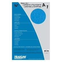 "Headline Sign Stick-On 3/4"" Vinyl Letters & Numbers - Blue"