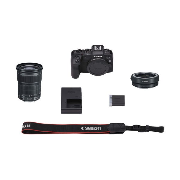 Canon EOS RP Mirrorless Digital Camera w/ EF 24-105mm f/3.5-5.6 STM Lens and Mount Adapter EF-EOS R Kit