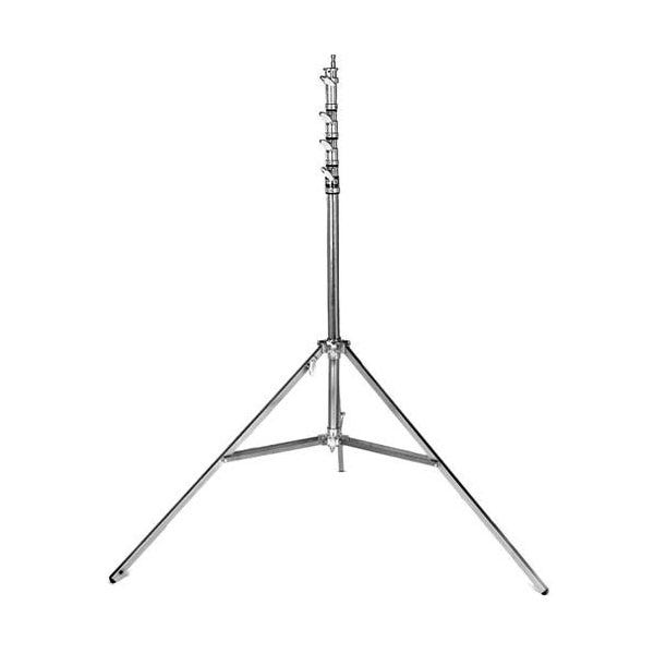 "Matthews Studio Equipment 40"" Chrome Hollywood Combo Steel Stand - Triple Riser"