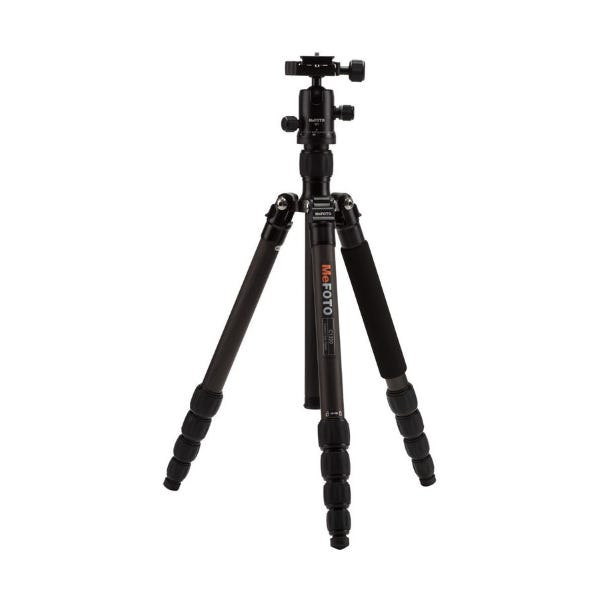 MeFoto RoadTrip Carbon Fiber Travel Tripod - Black