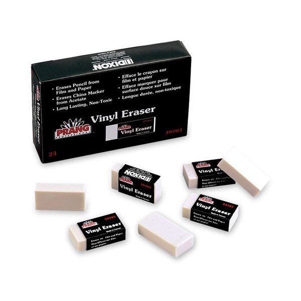 Prang Vinyl Medium Eraser - White