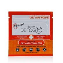 Clarity Defog It Anti Fog Cloths Single Pack