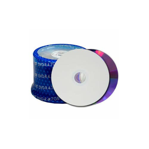 Spin-X 16X White Inkjet Hub Printable 4.7GB DVD+R Cakebox - 500pc