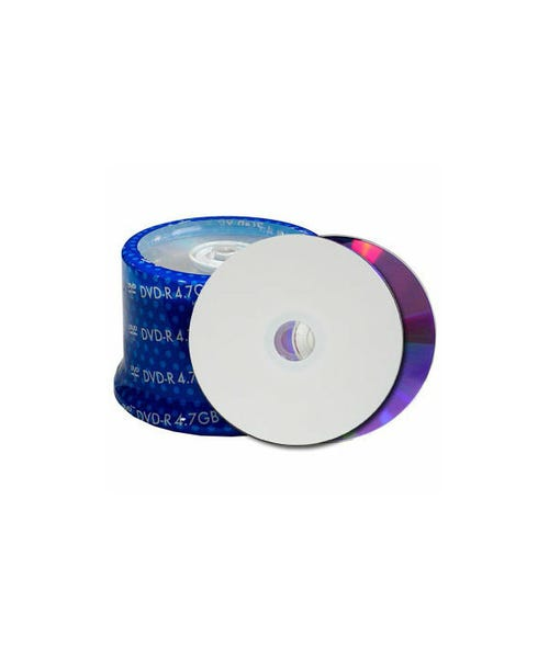 Spin-X 48X Diamond Silver Clear Coat Thermal Hub Printable 80 Min CDR - 500pc