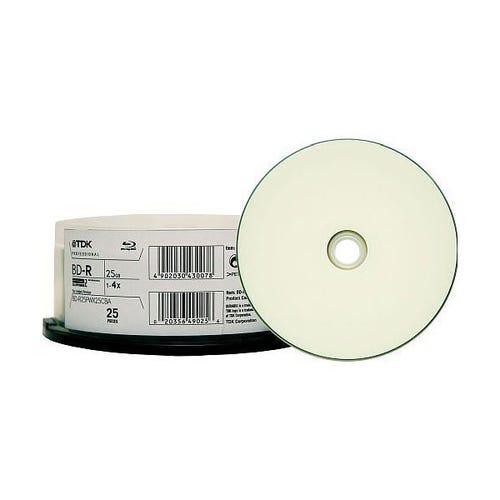 TDK 4X White Thermal Printable 25GB Blu-Ray - 25pc