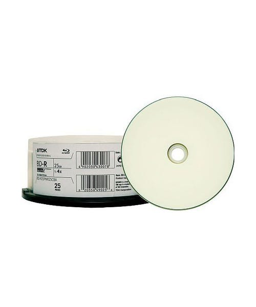TDK 4X White Thermal Printable 25GB Blu-Ray - 25pc