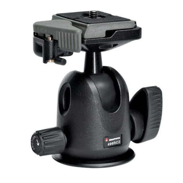 Manfrotto Proball 496 Ballhead with RC2 Quick Release Plate