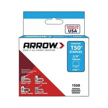 "Arrow Fastener 3/8"" T50 Staples - 1250/Pk"