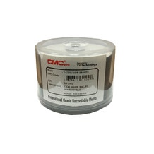 CMC Pro Taiyo Yuden 52X White Inkjet Water Shield Water Resistant CD-R Cake Box - 50pc