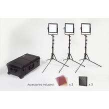 Rosco 3-Head LitePad Vector Daylight Location Lighting Kit