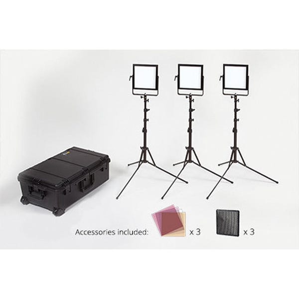 Rosco 3-Head LitePad Vector Daylight Location Lighting Kit