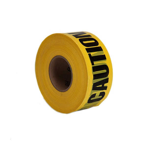 "Filmtools 3"" Caution Label Barricade Tape - Yellow"