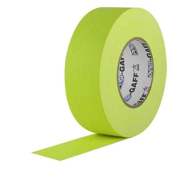 """ProTapes 2"""" Paper Tape - Fluorescent Yellow"""