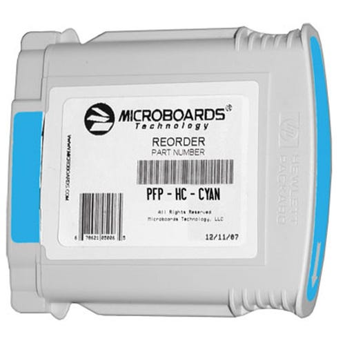 Microboards Ink Cartridge for Microboards MX1, MX2 & PF-Pro Printers - Cyan